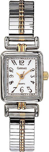 Carriage Womens Two Tone Expansion Band Watch