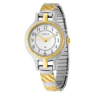 Carriage Womens Two Tone Bracelet Watch