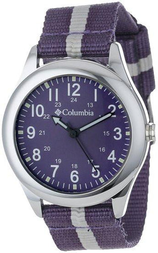 Columbia Unisex CA016510 Field Fox Silver-Tone Watch with Nylon Band