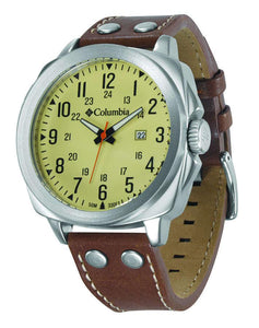 Columbia Cornerstone Brown Leather Strap Watch