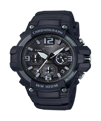 Casio  Heavy Duty Design Watch with Black Silicone Band Watch
