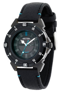 Sector Mens Action Analog Display Quartz Black Watch