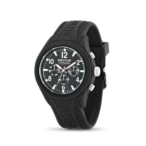 Sector Wormens Steeltouch Black Rubber watch