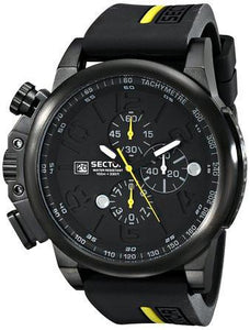 Sector Mens Action 450 Analog Display Quartz Black Watch