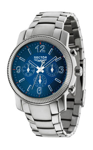 Sector Mens 500 Analog Display Quartz Silver Watch