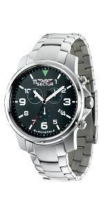 Sector Mens Black Eagle Stainless Steel Watch