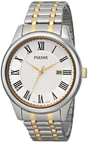 Pulsar Men's Traditional Collection Analog Display Japanese Quartz Silver Watch