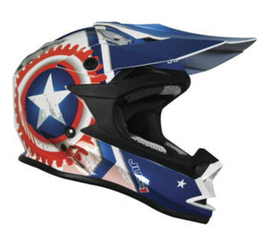 Just1 Youth J32 Merica Helmet; Red; Youth S