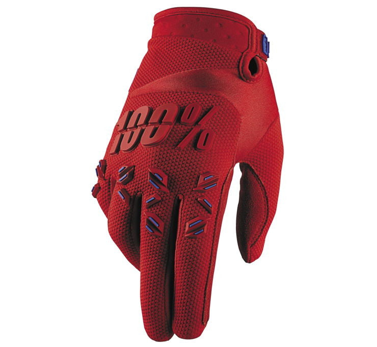100% Men's Airmatic Gloves; Fire Red; S