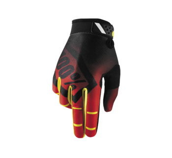 100% Men's Ridefit Gloves; Corpo Red; S