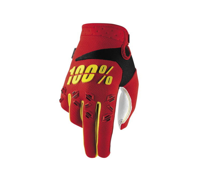 100% Youth Airmatic Gloves; Red; YL