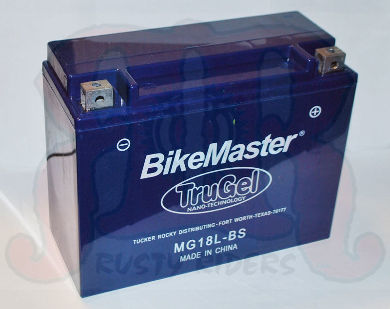 TruGel MG18L-BS Battery Yamaha XV1000 Virago 1984 - 1999