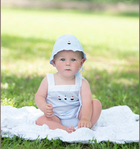 Sailboat Buttoned Diaper Set