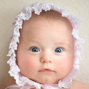 Feltman Smocked Lace Bonnet