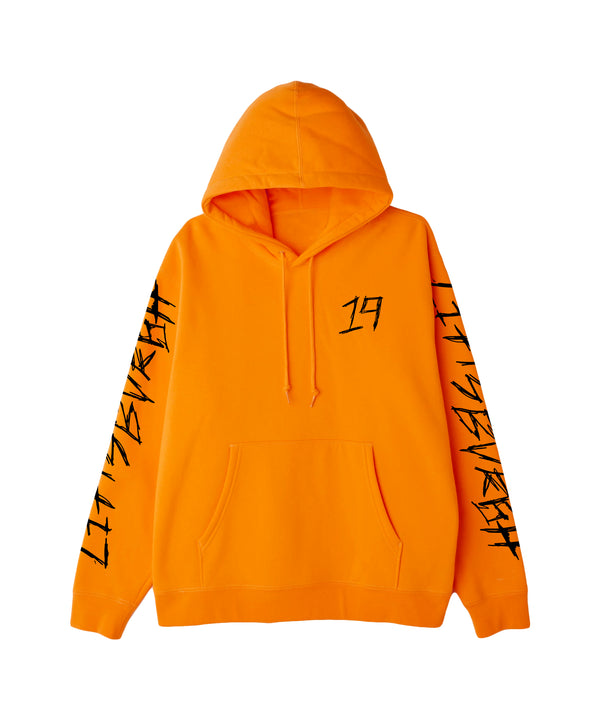 Distorted Safety Orange Hoodie