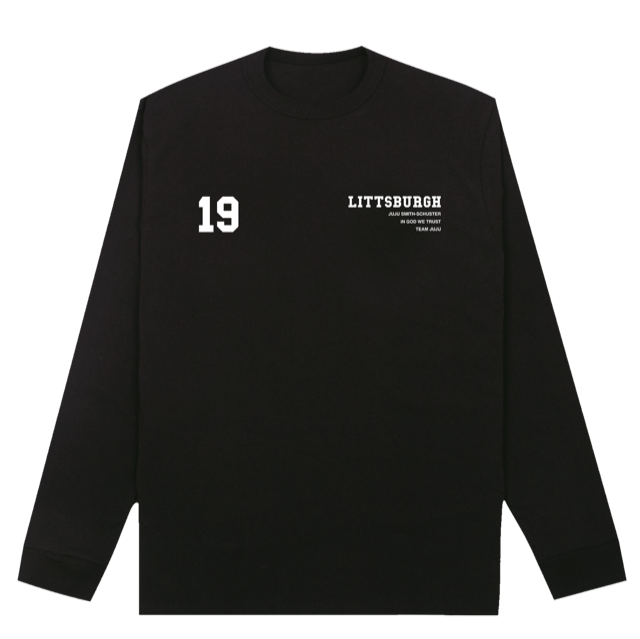 Littsburgh Black and White Long Sleeve - Youth