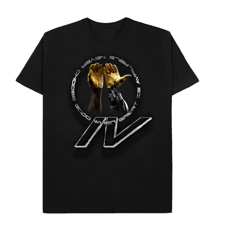 CHAPTER IV HANDS BLACK TEE