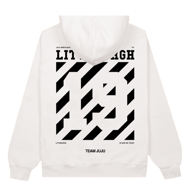Littsburgh White and Black Hoodie - Youth