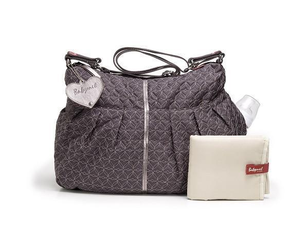 Amanda Quilted Pewter - NappyBags.com
