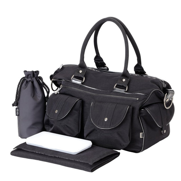 Black Wash Nylon Travel - NappyBags.com