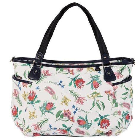 OiOi Botanical Tote White Nappy Bag