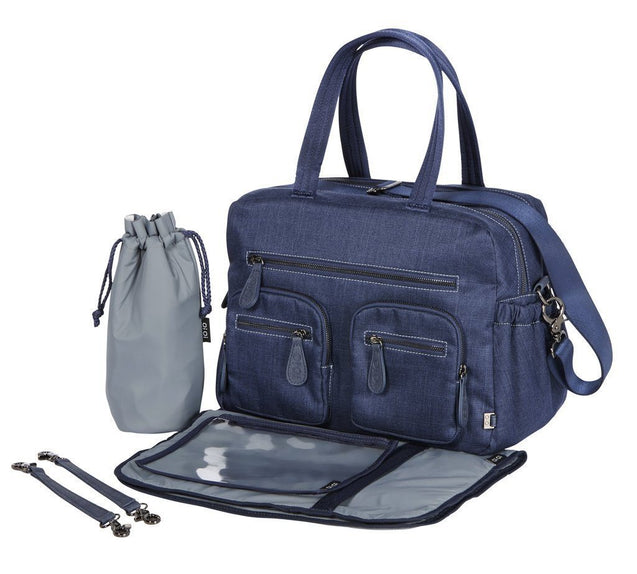 Carry All Denim Blue Nappy Bag - NappyBags.com