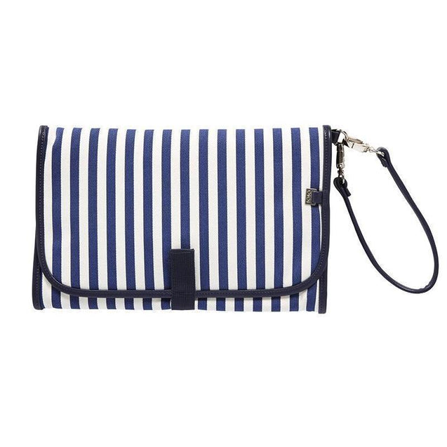 Change Clutch Navy/White Stripe - NappyBags.com