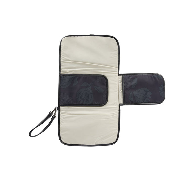 Change Clutch Protea Black/Charcoal - NappyBags.com