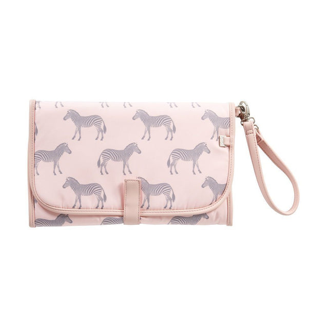 Change Clutch Zebra/Grey/Pink - NappyBags.com