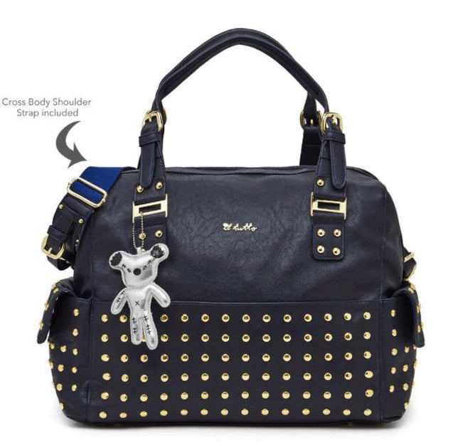 Frankie Tote Nappy Bag In Navy - NappyBags.com