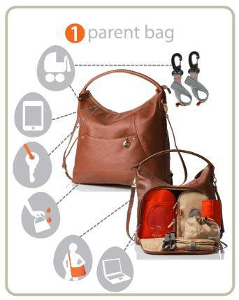 Jasper Chestnut Leather - NappyBags.com