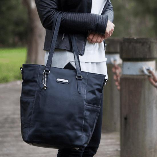Lucca Tote Leather - NappyBags.com