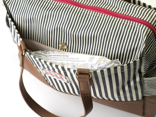 Millie Stripe Navy - NappyBags.com