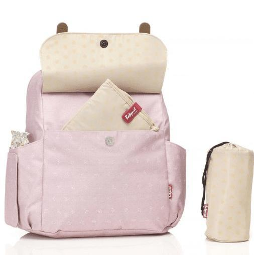 Robyn Convertible Backpack Dusty Pink Origami Heart - NappyBags.com