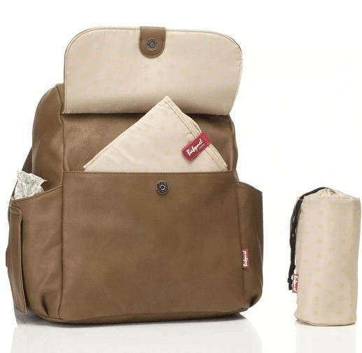 Robyn Convertible Backpack Faux Leather Tan - NappyBags.com