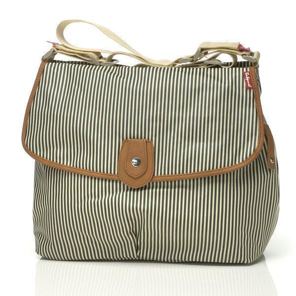 Satchel Stripe Navy - NappyBags.com