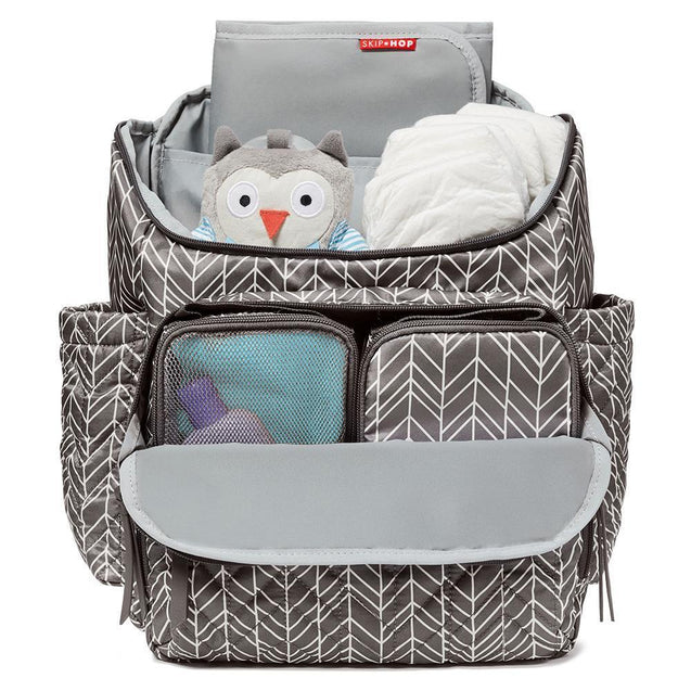 Skip Hop Forma Backpack Grey Feather - NappyBags.com