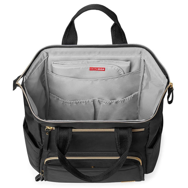 Skip Hop Main Frame Wide Open Backpack Black - NappyBags.com