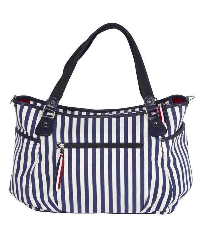 Tote Navy/White Stripe - NappyBags.com