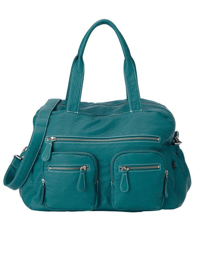 Turquoise Faux Buffalo Carry All Nappy Bag - NappyBags.com
