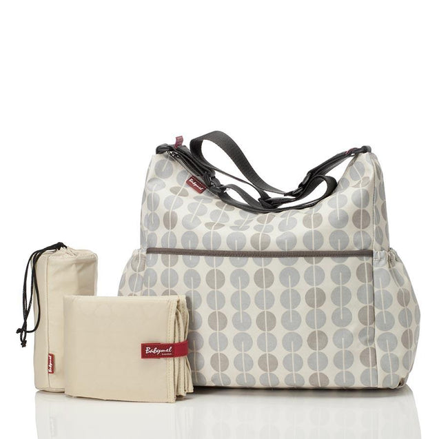 Babymel Big Slouchy Multi Dot Grey Mist Nappy Bag