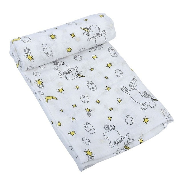 Organic Bamboo Cotton Baby Swaddle