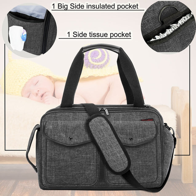 CoolBell Multifunction Messenger Nappy Bag