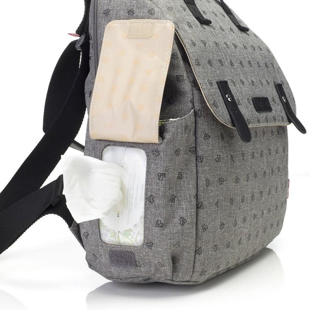 Babymel Robyn Convertible Backpack Grey Nappy Bag