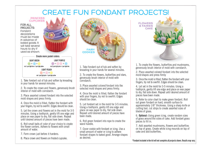 Sweetshop Flowers And Fairies Fondant Kit