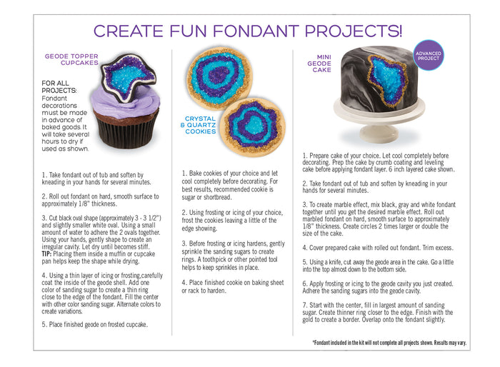 Sweetshop Geode Fondant Kit