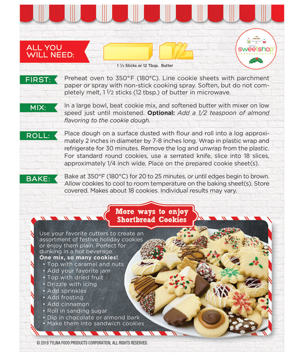 Sweetshop Shortbread Cookies with Sprinkles Cookie Mix
