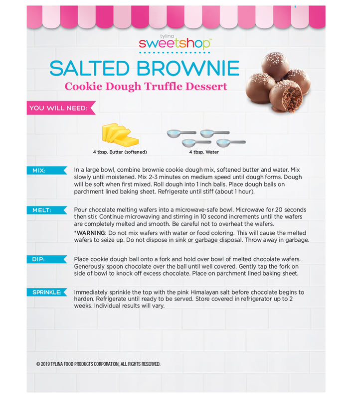 Salted Brownie Cookie Dough Truffles Kit