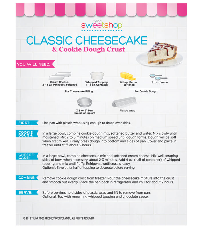 Classic Cheesecake with Chocolate Chip Cookie Dough Crust Kit
