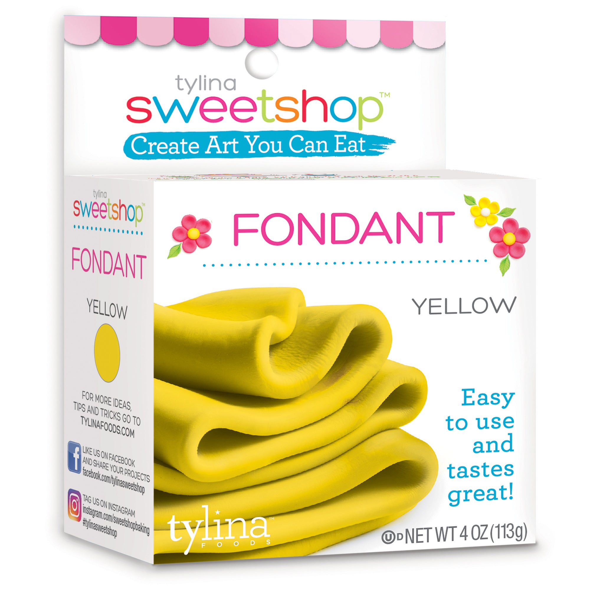 Sweetshop 4 Oz Fondant - Yellow